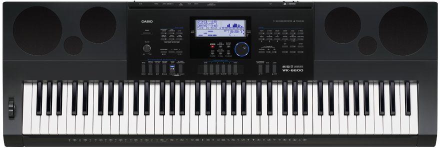 Casio WK-6600, Black цифровой синтезатор dayocra черный 85