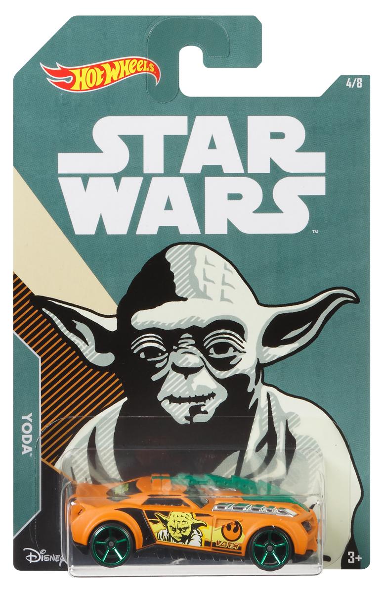 Hot Wheels Star Wars Трековая машинка Yoda Barbaric фигурки игрушки star wars лихачи звездных войн