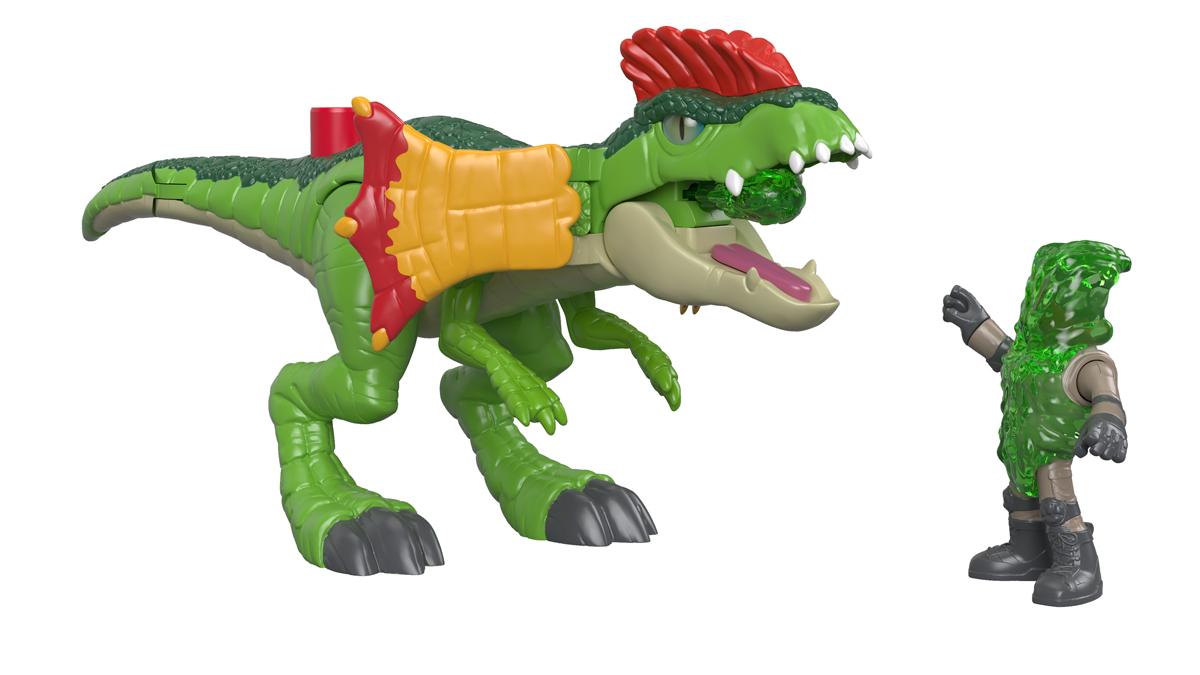 Imaginext Набор фигурок Jurassic World Dilophosaurus & Agent игрушки для детей
