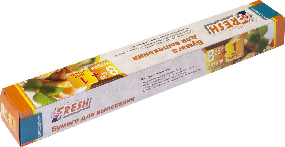 """Бумага """"Fresh"""" идеально подходит для выпекания в духовом шкафу, а также для упаковки и хранения продуктов. Предотвращает пригорание. Подходит к любым конфигурациям формочек, тортовницам и противням. Максимальная жаростойкость 220°С."""