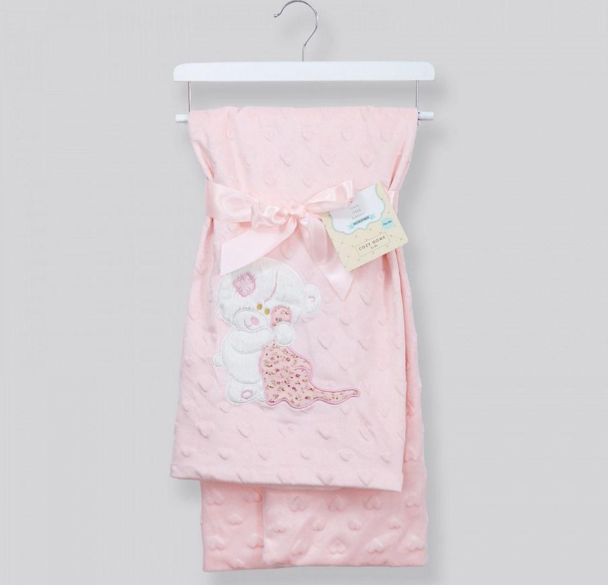 """Плед детский Cozy Home """"Soffia"""", с аппликацией, цвет: розовый, 70 х 100 см"""