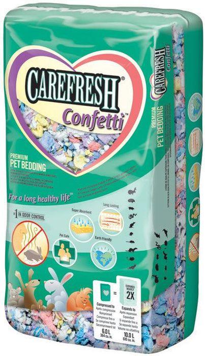 Наполнитель CareFresh  Colors Confetti , для птиц и мелких домашних животных, на бумажной основе, цвет: разноцветный, 10 л - Наполнители и туалетные принадлежности - Наполнители