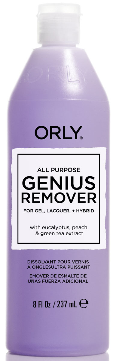 Orly Жидкость для удаления гель-лаков и лаков с ухаживающим эффектом Genius All Purpose Remover, 237 мл mtsooning timing cover and 1 derby cover for harley davidson xlh 883 sportster 1986 2004 xl 883 sportster custom 1998 2008 883l