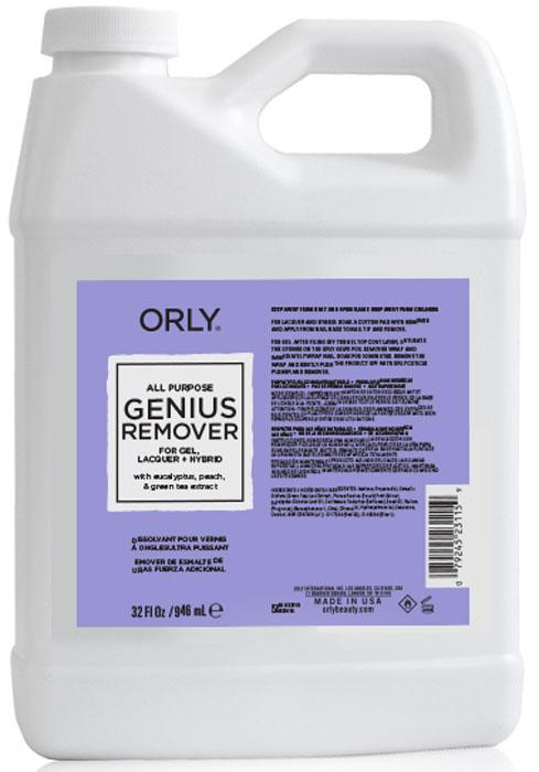 Orly Жидкость для удаления гель-лаков и лаков с ухаживающим эффектом Genius All Purpose Remover, 946 мл цена