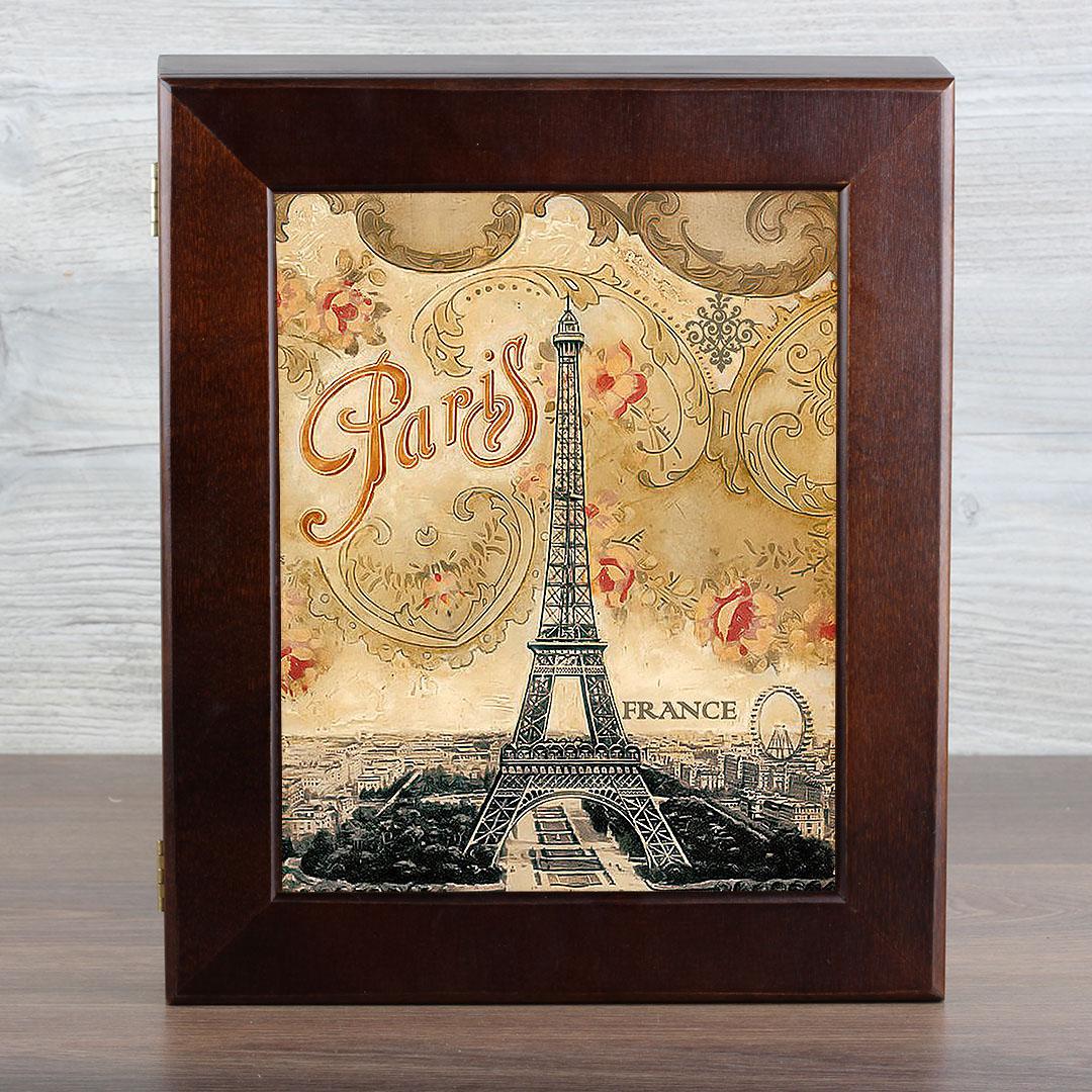 "Ключница Город Подарков ""Ретро. Paris"", цвет: венге"