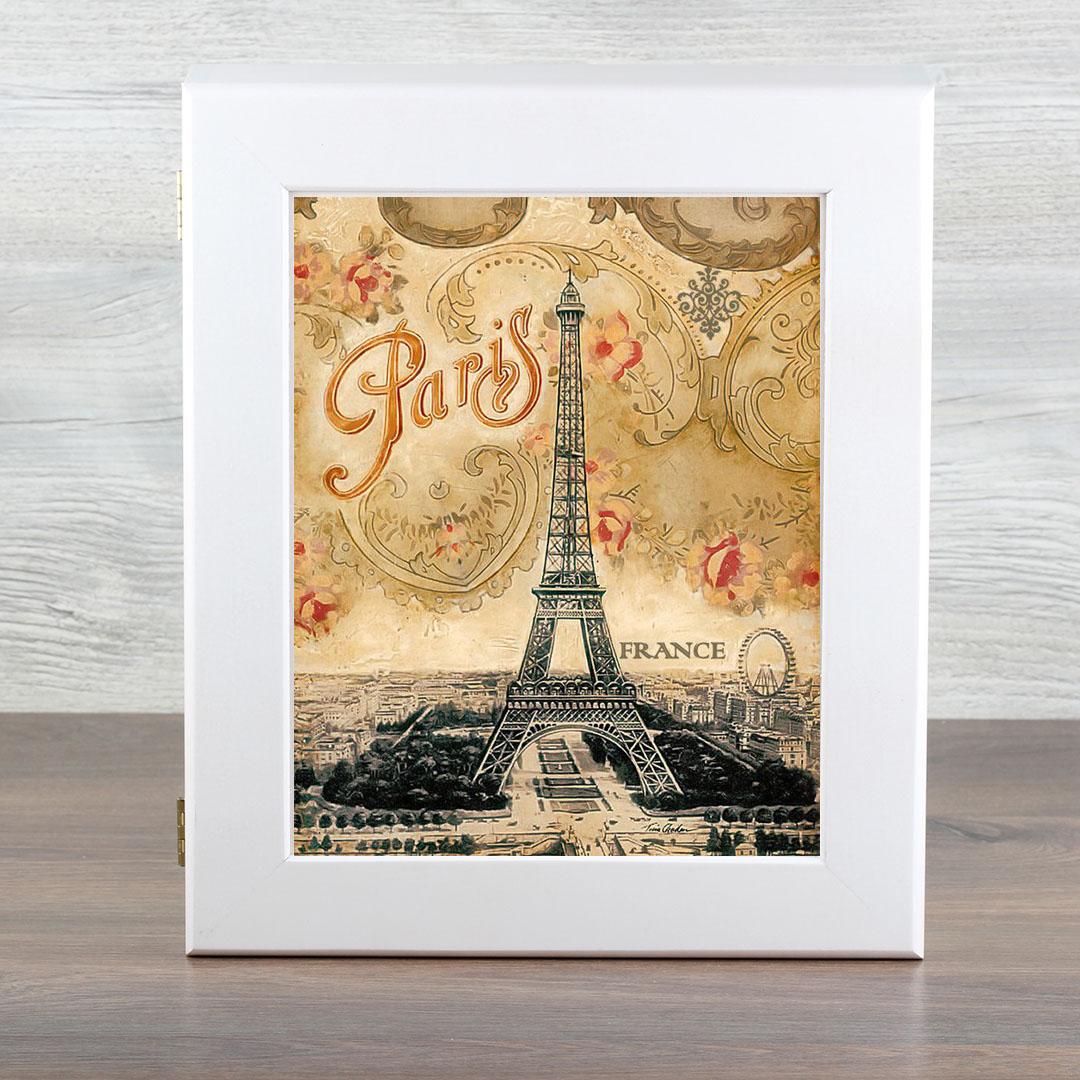 """Ключница Город Подарков """"Ретро. France"""", цвет: белый"""
