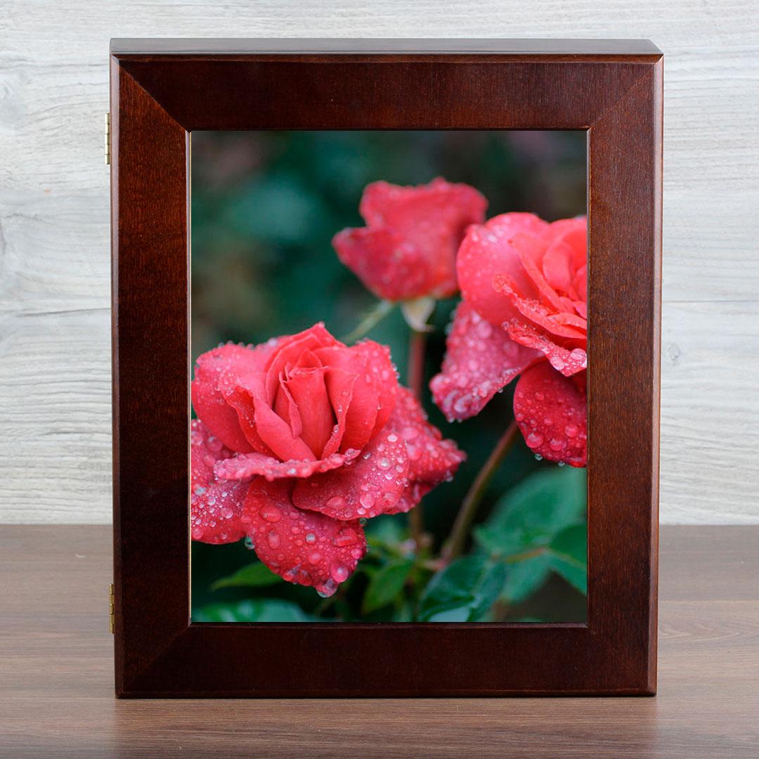 Ключница Город Подарков Красные розы, цвет: венге орден город подарков лучший учитель в футляре цвет ленты синий