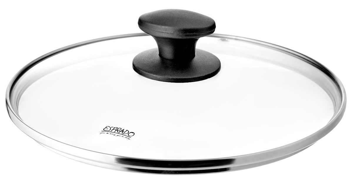Крышка Esprado Tradicia. Диаметр 26 смTR4B260E110Крышка Esprado Tradicia наилучшим образом сочетают в себе классический дизайн, традиционно высокое качество, надежность, долговечность и универсальность.Крышка из закаленного стекла с ободом из нержавеющей стали диаметром 26 см. Толщина стекла – 4 мм. Паровыпуск – 5 мм. Ручка из бакелита,цвет-черный. Логотип черного цвета на стекле, устойчивый к мытью в посудомойке.
