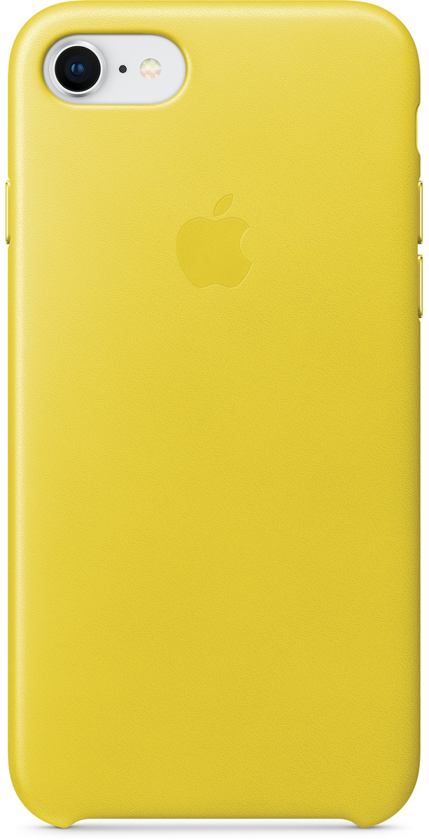Apple Leather Case чехол для iPhone 7/8, Spring YellowMRG72ZM/AЧехлы, созданные Apple, точно повторяют контуры iPhone, не делая его громоздким. Apple Leather Case изготовлен из мягкой кожи европейского производства, которая со временем покрывается благородной патиной. Мягкая внутренняя поверхность, выполненная из микроволокна, защищает корпус вашего iPhone. А кнопки из обработанного алюминия идеально подходят по цвету к чехлу.