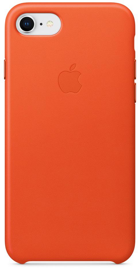 Apple Leather Case чехол для iPhone 7/8, Bright OrangeMRG82ZM/AЧехлы, созданные Apple, точно повторяют контуры iPhone, не делая его громоздким. Apple Leather Case изготовлен из мягкой кожи европейского производства, которая со временем покрывается благородной патиной. Мягкая внутренняя поверхность, выполненная из микроволокна, защищает корпус вашего iPhone. А кнопки из обработанного алюминия идеально подходят по цвету к чехлу.