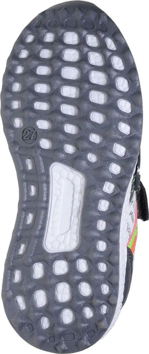 Детские кроссовки Колобок выполнены из качественной искусственной кожи и оформлены оригинальными вставками. Подъем дополнен ремешками с липучками. Подкладка и стелька изготовлены из текстиля. Рельеф облегченной подошвы из полимера повышает сцепление с покрытием.