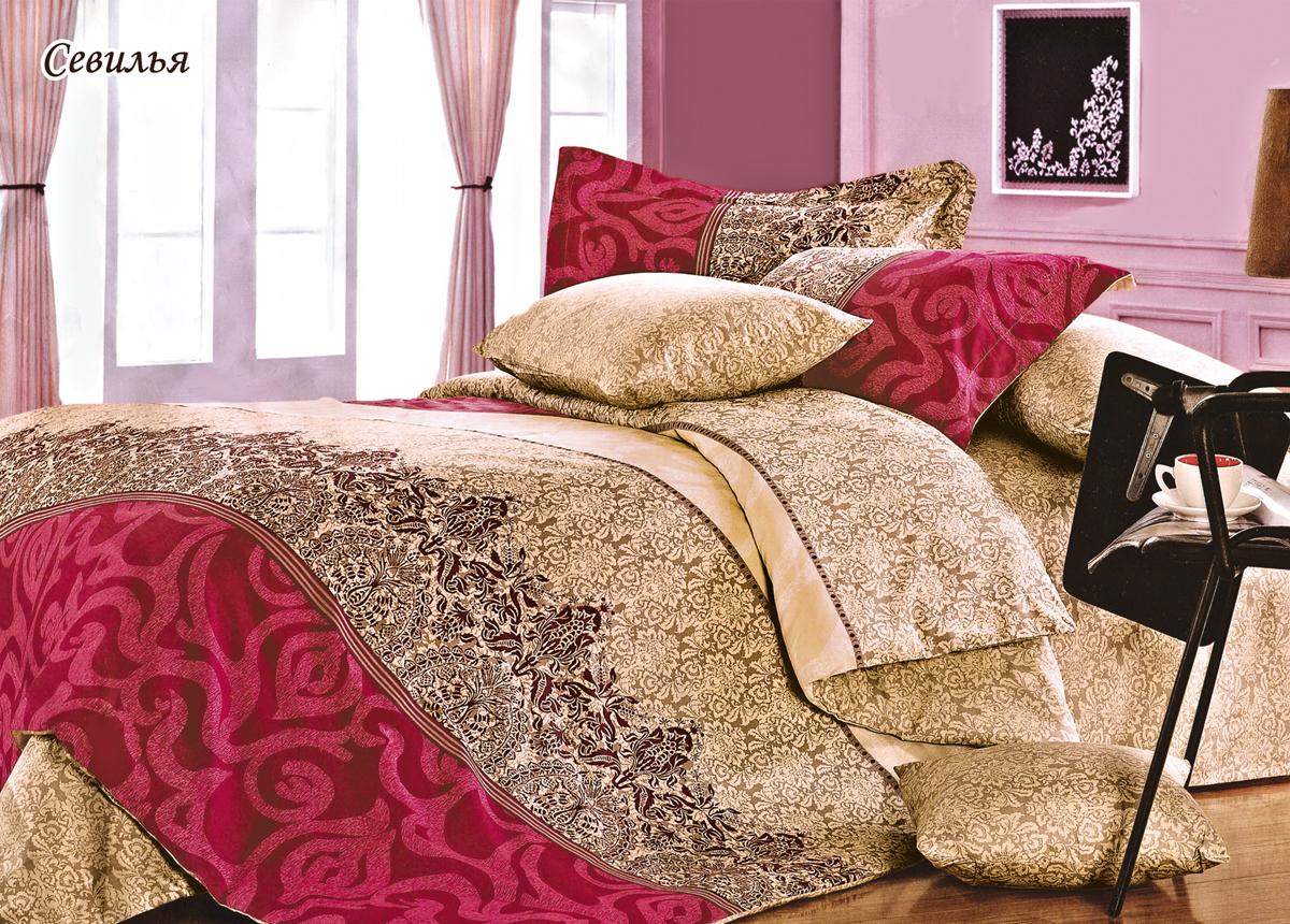 Комплект белья Магия ночи Севилья, евро, наволочки 50x70. 25204-001-114