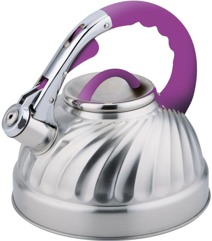 """Чайник """"Eurostek"""" изготовлен из высококачественной нержавеющей стали.   Он оснащен эргономичной ручкой и свистком.   Подходит для всех видов плит.   Можно мыть в посудомоечной машине.  Оригинальное покрытие корпуса, многослойное капсульное дно."""