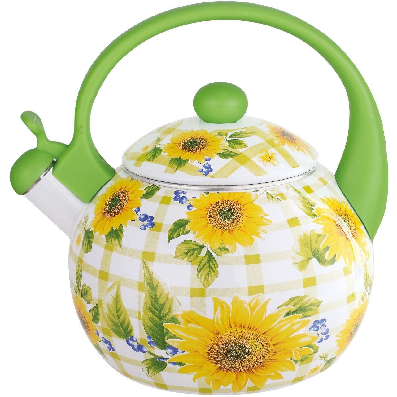 Чайник эмалированный Чудесница, со свистком, 2,5 л. ЭЧ-2508