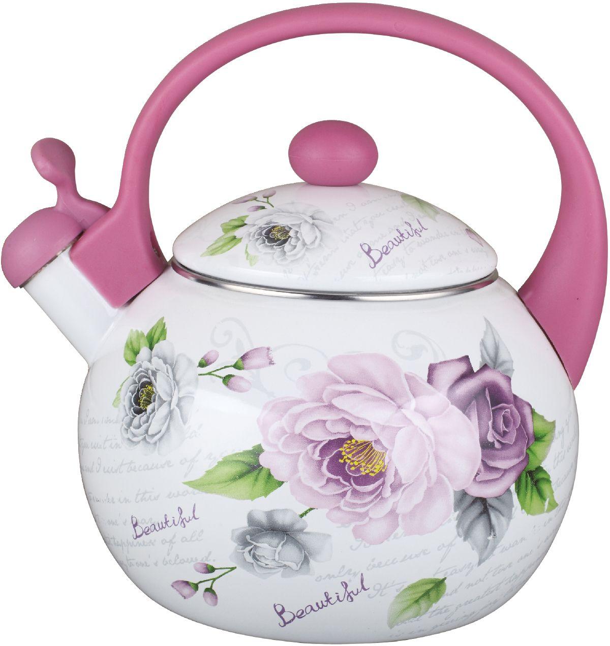 Чайник эмалированный Чудесница, со свистком, 2,5 л. ЭЧ-2512