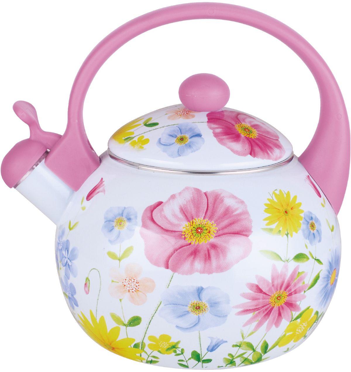 Чайник эмалированный Чудесница, со свистком, 2,5 л. ЭЧ-2513 чайники для плиты vetta чайник эмалированный