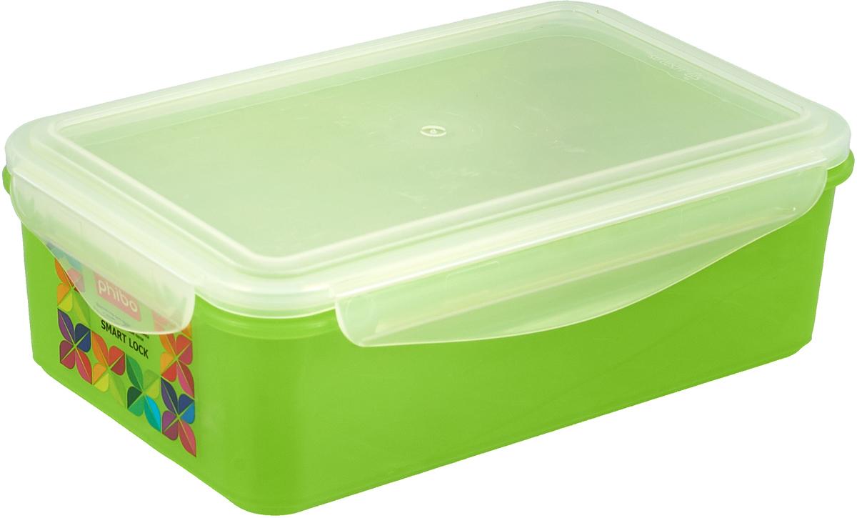 Контейнер Бытпласт Smart Lock, для холодильника и микроволновой печи, цвет: светло-зеленый, 1,1 л часы слава 1249422 300 2428