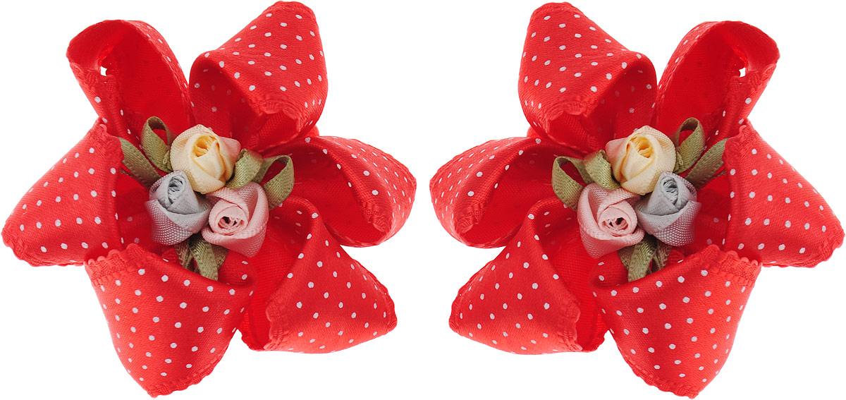 Baby's Joy Резинка для волос 2 шт K 9_красный baby s joy резинка для волос цвет красный белый розовый 2 шт