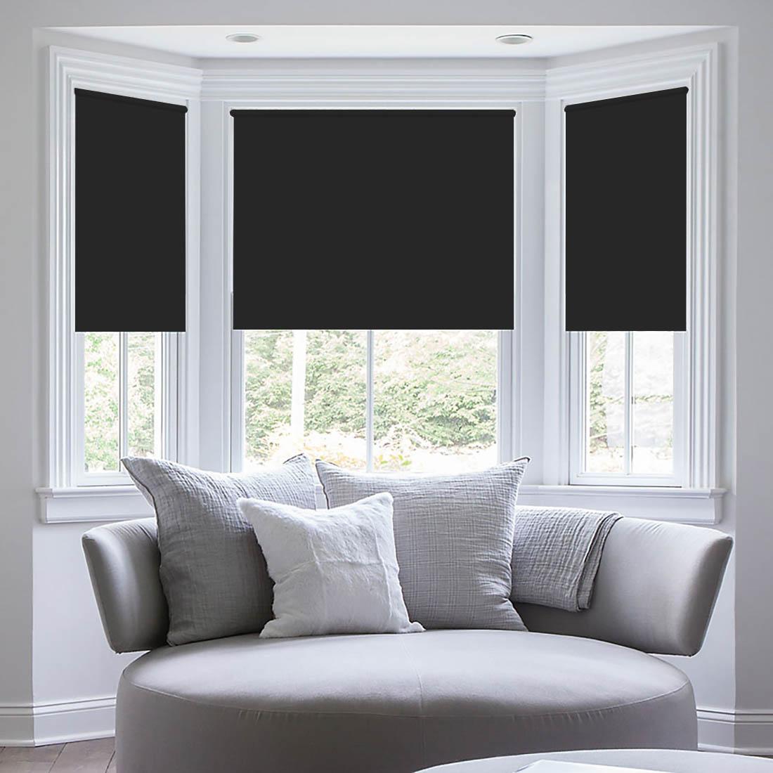 Штора рулонная Sleep iX Eclipce, цвет: черный, серебристый, высота 172 см, ширина 68 смpva314134Blackout - трехслойная светонепроницаемая ткань, из полиэфирного волокнас двойным сатиновым переплетением. Ткань Blackout по своим внешнимпризнакам фактически не отличается от обычной драпировочной ткани, нообладает уникальным свойством: она практически не пропускает свет.Благодаря этому можно добиться полного затемнения, так частонеобходимого для спального помещения. Так как сама ткань довольноплотная, она отлично сохраняет тепло в помещении! Blackout выступаетбарьером создавая в зоне окна тепловой занавес, что защитит квартиру отсквозняка и холода. Летом такое положение штор из блэкаута, наоборот,сохранит прохладу внутри помещения, не дав солнечному свету нагреватьпомещение. Помимо перечисленных свойств, ткань Blackout обладаетвысокой плотностью, что обеспечивает высокое качество исходного сырья ихорошую износостойкость изделий. Ткань подвергается дополнительнойобработке специальным защитным химическим составом, что позволяетшторам не выгорать при солнечном свете, и сохранит от воздействиясолнечного света другие предметы интерьера. Уникальные свойства ткани нетеряются с течением времени и в процессе ее эксплуатации. Разрешается ручная стирка и деликатная стирка в стиральной машине.