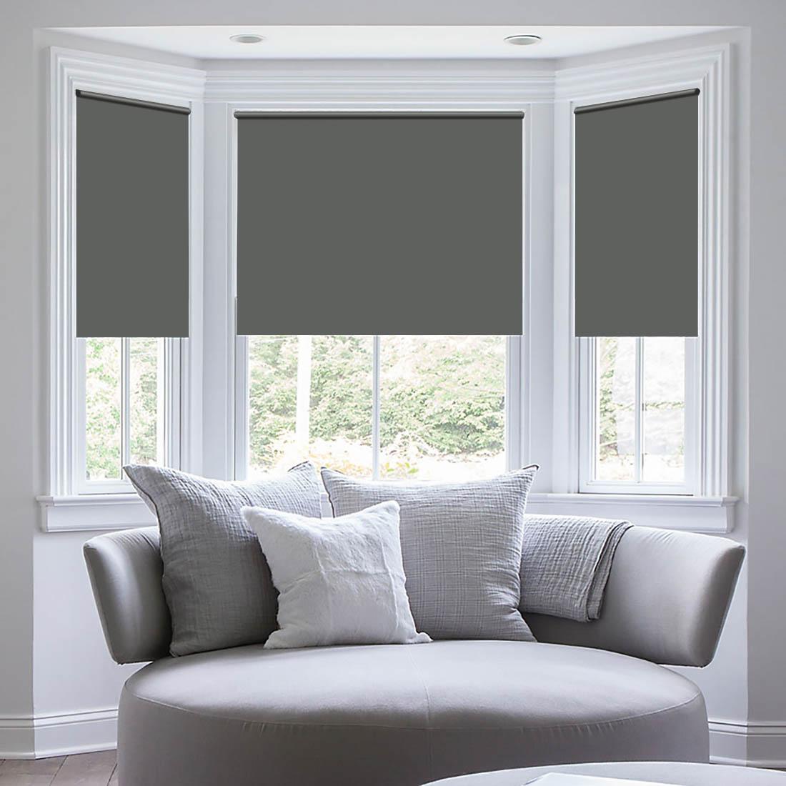 Штора рулонная Sleep iX Eclipce, цвет: серый, серебристый, высота 172 см, ширина 81 смpva314154Blackout - трехслойная светонепроницаемая ткань, из полиэфирного волокнас двойным сатиновым переплетением. Ткань Blackout по своим внешнимпризнакам фактически не отличается от обычной драпировочной ткани, нообладает уникальным свойством: она практически не пропускает свет.Благодаря этому можно добиться полного затемнения, так частонеобходимого для спального помещения. Так как сама ткань довольноплотная, она отлично сохраняет тепло в помещении! Blackout выступаетбарьером создавая в зоне окна тепловой занавес, что защитит квартиру отсквозняка и холода. Летом такое положение штор из блэкаута, наоборот,сохранит прохладу внутри помещения, не дав солнечному свету нагреватьпомещение. Помимо перечисленных свойств, ткань Blackout обладаетвысокой плотностью, что обеспечивает высокое качество исходного сырья ихорошую износостойкость изделий. Ткань подвергается дополнительнойобработке специальным защитным химическим составом, что позволяетшторам не выгорать при солнечном свете, и сохранит от воздействиясолнечного света другие предметы интерьера. Уникальные свойства ткани нетеряются с течением времени и в процессе ее эксплуатации. Разрешается ручная стирка и деликатная стирка в стиральной машине.