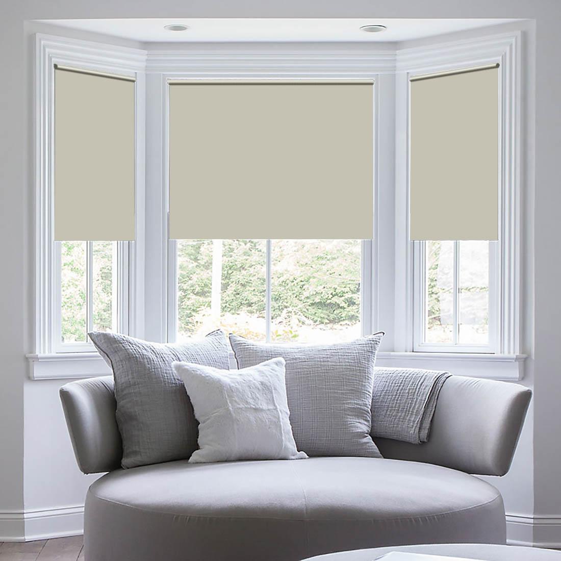 """Штора рулонная Sleep iX """"Eclipce"""", цвет: кремовый, серебристый, высота 172 см, ширина 57 см"""