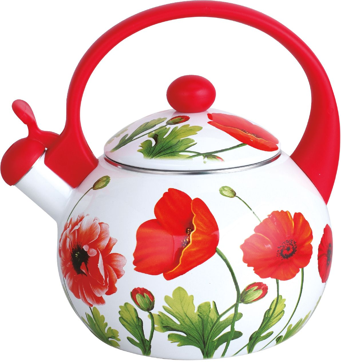 Чайник эмалированный Чудесница, со свистком, 2,5 л. ЭЧ-2516 чайники для плиты vetta чайник эмалированный