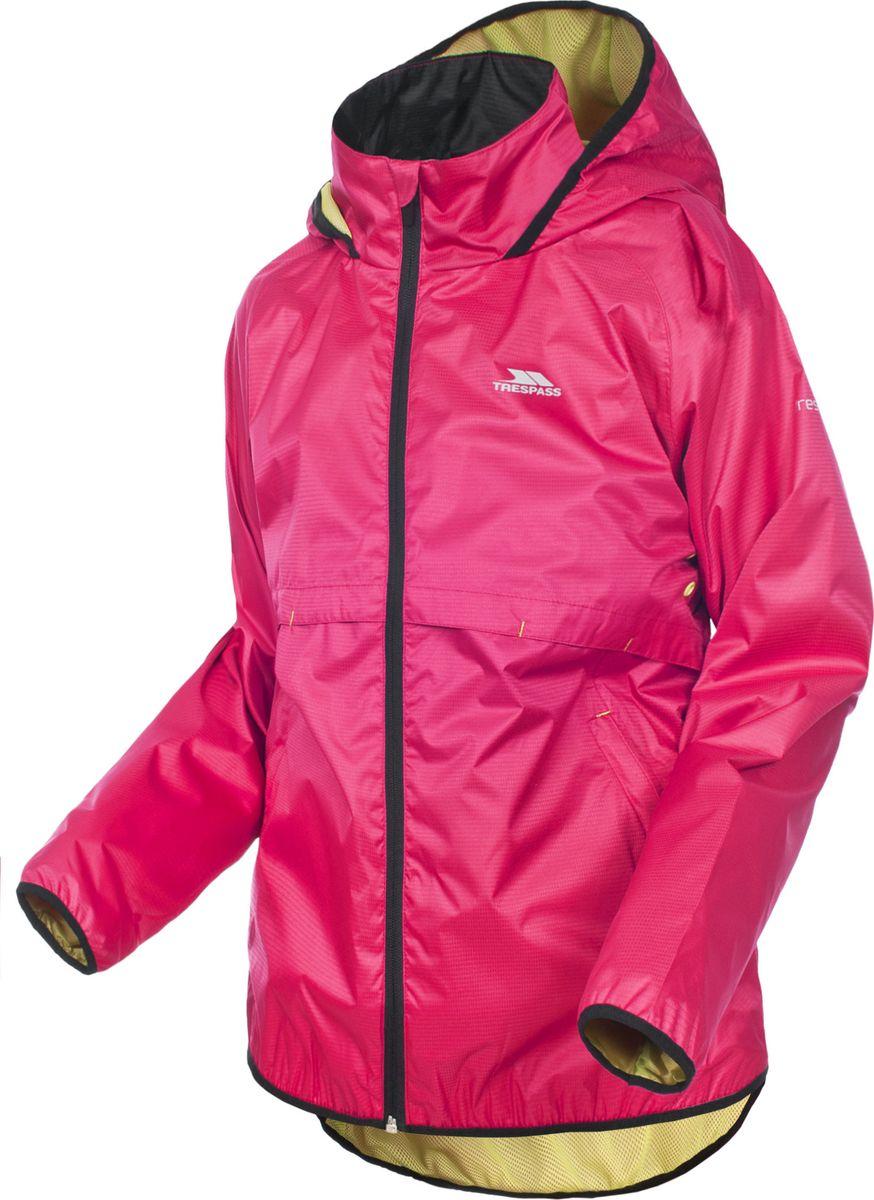 Дождевик женский Trespass Qikpac_Jacket, цвет: розовый. UAJKRAI10001. Размер S (48)