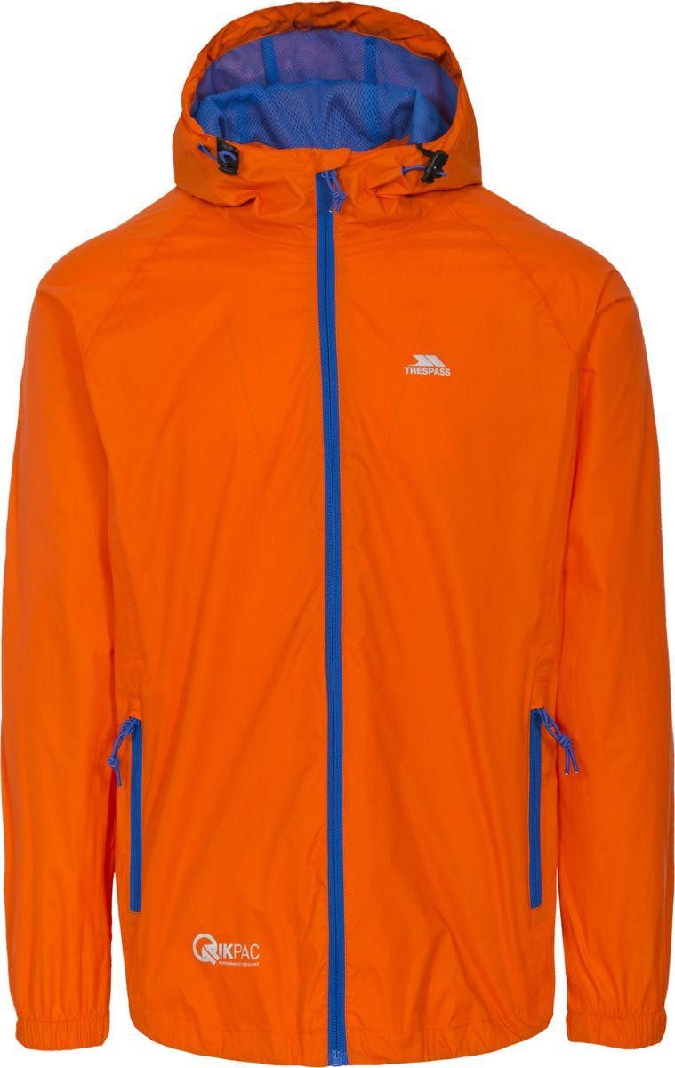 цены на Дождевик мужской Trespass Qikpac_Jacket, цвет: оранжевый. UAJKRAI10001. Размер XL (54) в интернет-магазинах