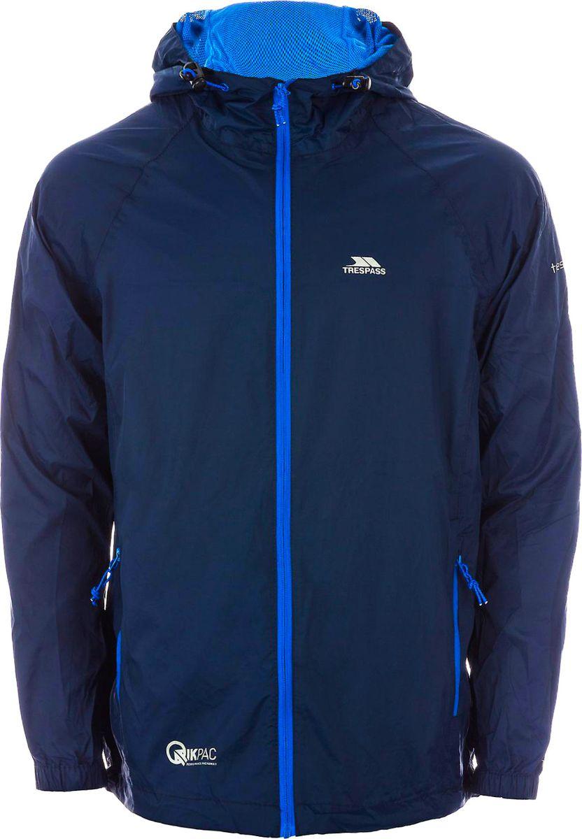 Дождевик мужской Trespass Qikpac_Jacket, цвет: синий. UAJKRAI10001. Размер XXL (56)