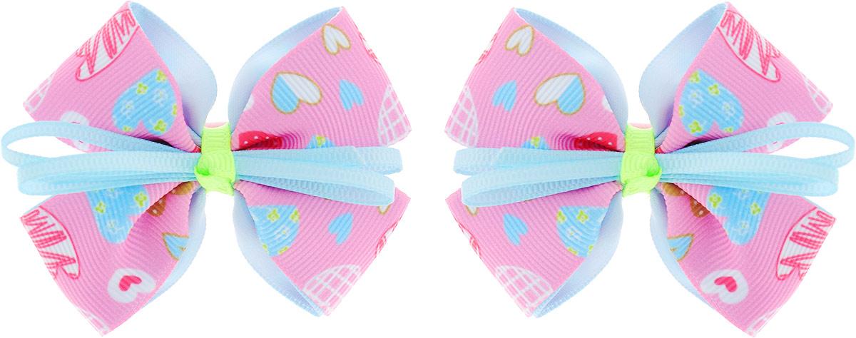 Baby's Joy Резинка для волос Бант 2 шт MN 137/2_розовый, голубой baby s joy резинка для волос цвет красный белый розовый 2 шт