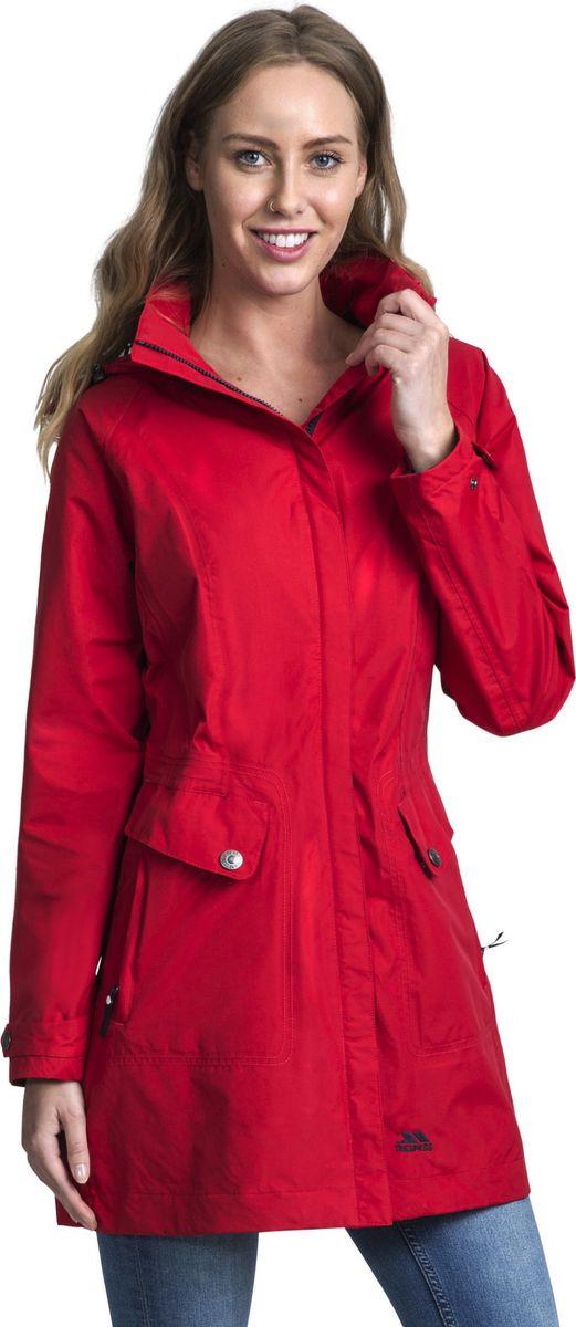 Плащ женский Trespass Rainy_Day, цвет: красный. FAJKRAM20002. Размер XS (42) женский плащ с капюшоном