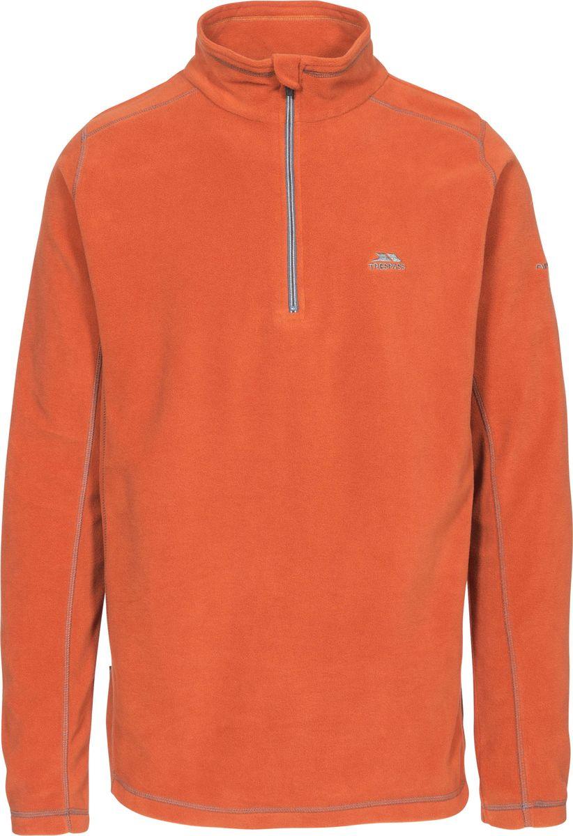 Толстовка мужская Trespass Maringa, цвет: оранжевый. MAFLFLN10001. Размер M (50)MAFLFLN10001Мужская толстовка Trespass выполнена из полиэстера. Модель с воротником-стойкой и длинными рукавами спереди застегивается на молнию.