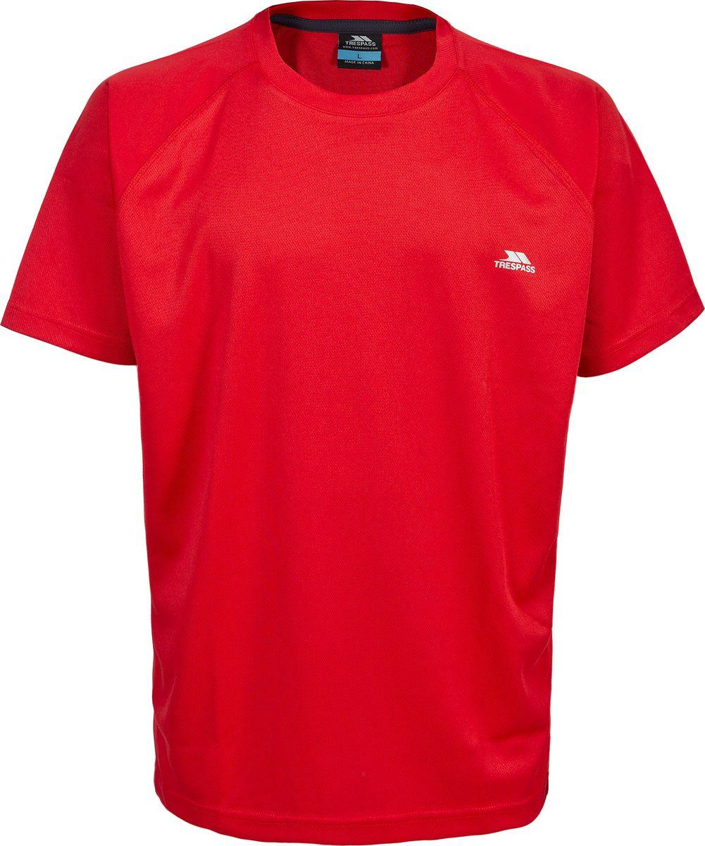 Футболка мужская Trespass Debase, цвет: красный. MATOTSL10012. Размер XXL (56) sisjuly красный цвет номер xxl