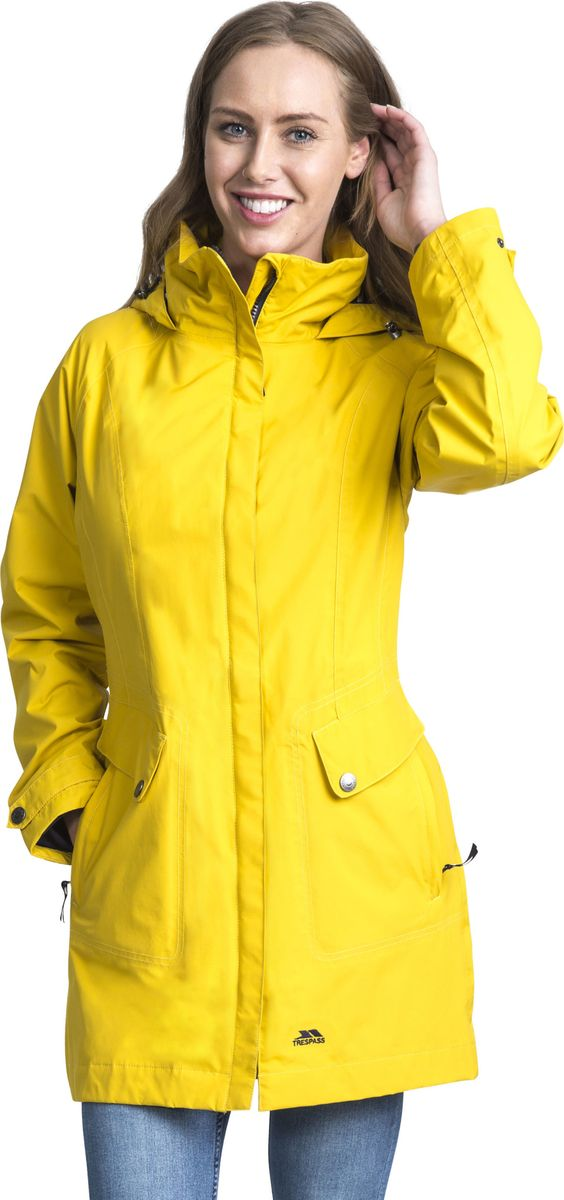 Плащ женский Trespass Rainy_Day, цвет: желтый. FAJKRAM20002. Размер XS (42) женский плащ с капюшоном