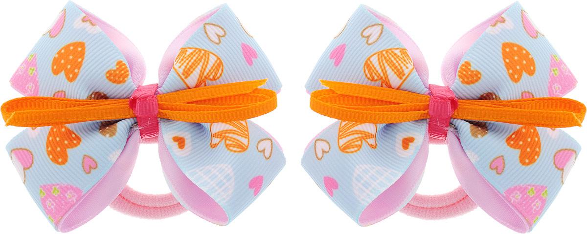 Baby's Joy Резинка для волос Бант 2 шт MN 137/2_голубой, розовый baby s joy резинка для волос цвет красный белый розовый 2 шт