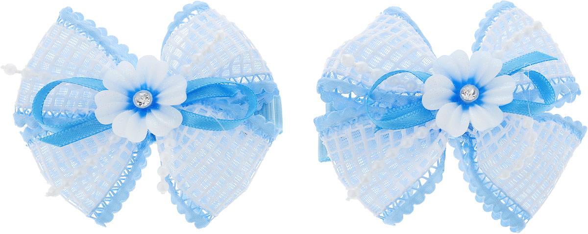 Baby's Joy Заколка для волос 2 шт AL 232_голубой baby s joy резинка для волос цвет красный белый розовый 2 шт