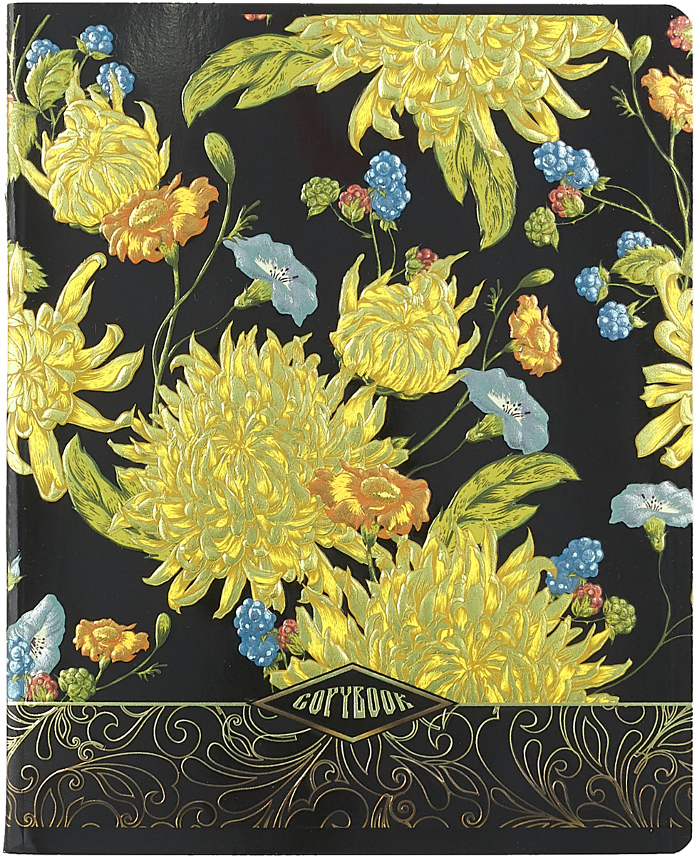 Magic Lines Тетрадь Прекрасные цветы 48 листов в клетку 28232_вид328232_вид3