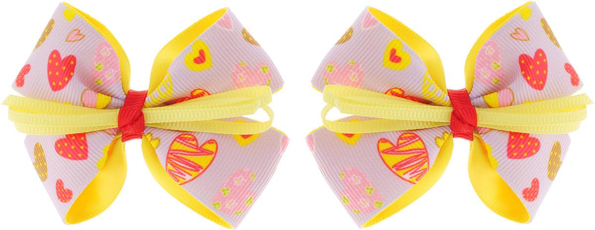 Baby's Joy Резинка для волос Бант 2 шт MN 137/2_сиреневый, желтый baby s joy резинка для волос цвет красный белый розовый 2 шт