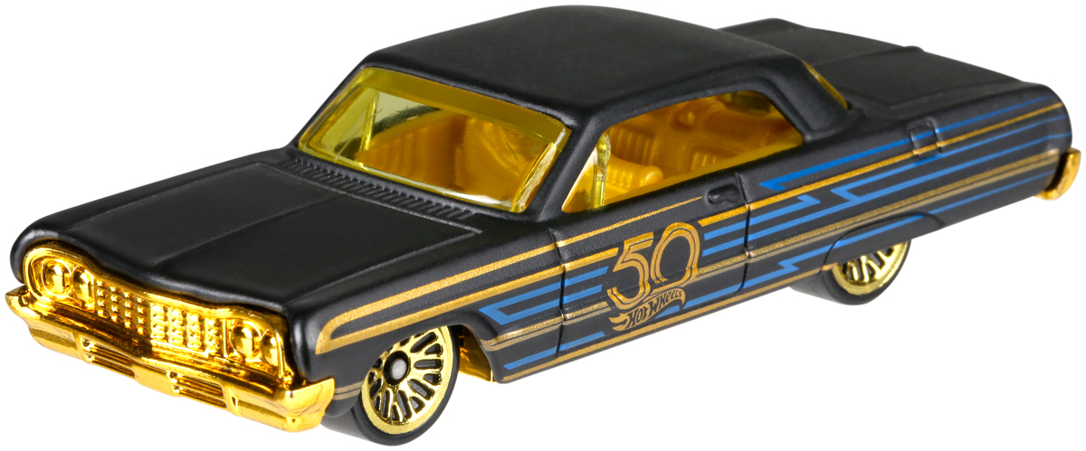 Hot Wheels 50th Anniversary Трековая машинка '64 Impala hot wheels bad ratitude