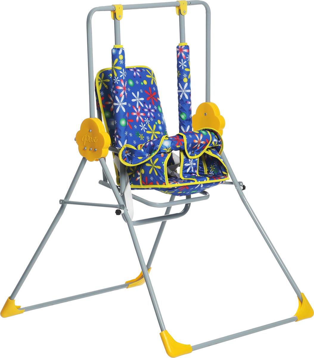 Фея Качели детские Малыш Цветы цвет синий желтый