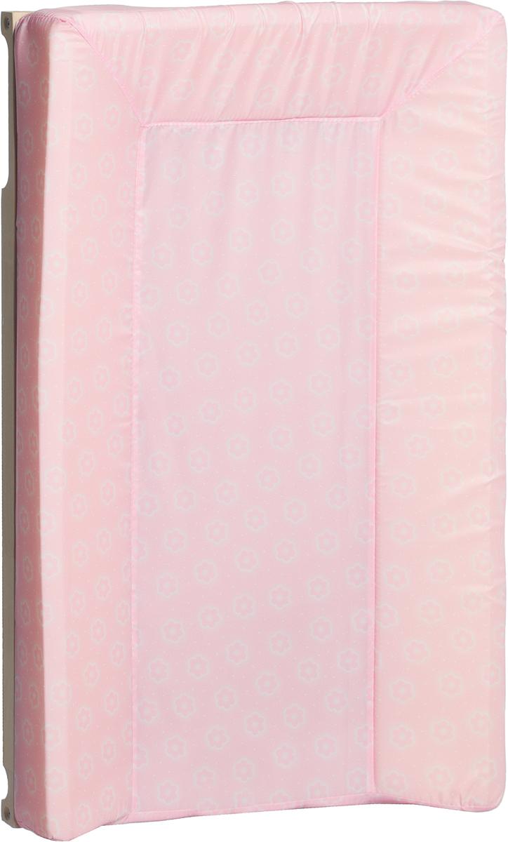 Фея Доска пеленальная Люкс Цветочки цвет розовый