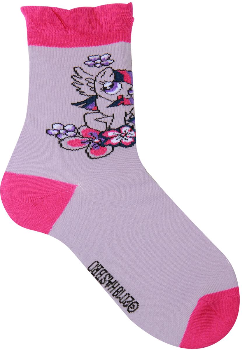Носки для девочки Hasbro Twilight Sparkle, цвет: сиреневый. H40 A1 21. Размер 27/29H40 A1 21Детские носки Hasbro изготовлены из высококачественного эластичного материала на основе хлопка. Носки оформлены оригинальным рисунком и имеют мягкую и плотную резинку. Замечательные носочки от Hasbro не оставят равнодушной не одну девочку!