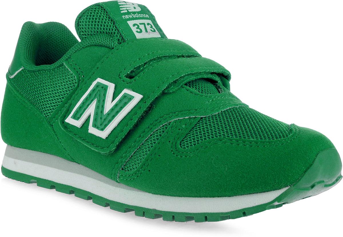 Кроссовки для мальчика New Balance 373, цвет: зеленый. KV373VGY/M. Размер 1,5 (33)KV373VGY/MСтильные кроссовки для мальчика от New Balance не оставят вашего ребенка равнодушным. Модель выполнена из высококачественных материалов. По бокам обувь оформлена декоративными элементами в виде фирменного логотипа бренда, на язычке - фирменной нашивкой. Ремешок с липучкой надежно зафиксирует изделие на ноге. Подкладка и стелька, изготовленные из текстиля, гарантируют уют и предотвращают натирание. Прочная и легкая подошва, дополненная рифлением, обеспечит идеальное сцепление с любой поверхностью.