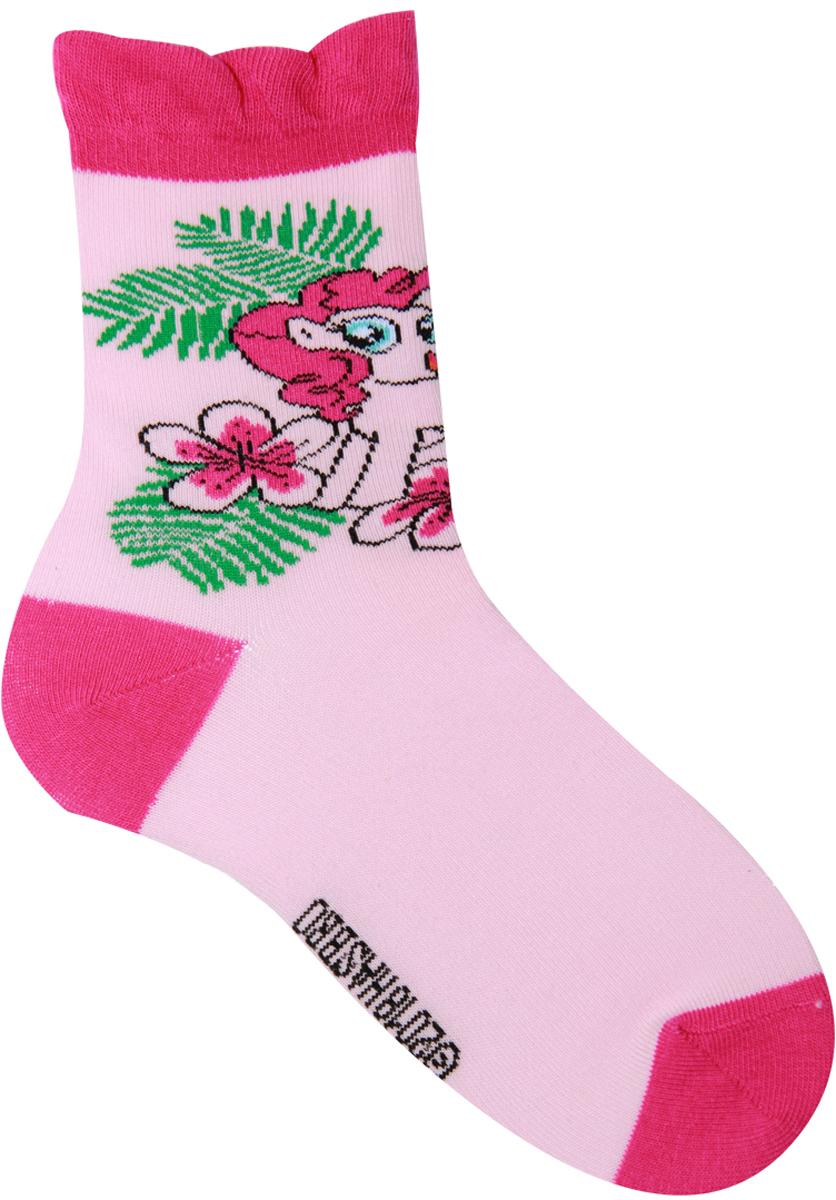 Носки для девочки Hasbro Pinkie Pie, цвет: розовый. H40 A4 1. Размер 21/23H40 A4 1Детские носки Hasbro изготовлены из высококачественного эластичного материала на основе хлопка. Носки оформлены оригинальным рисунком и имеют мягкую и плотную резинку. Замечательные носочки от Hasbro не оставят равнодушной не одну девочку!