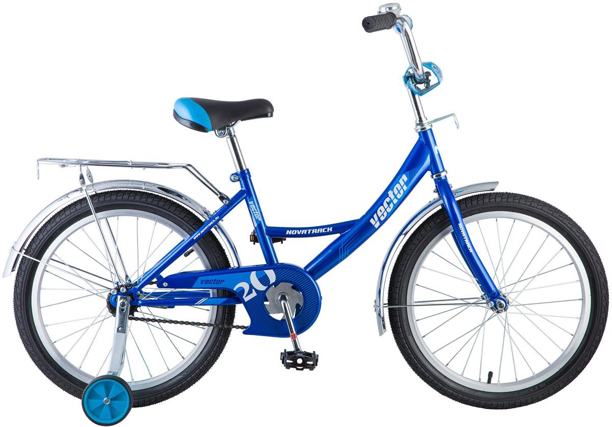 Велосипед детский Novatrack Vector , цвет: синий, 20 , Велосипеды  - купить со скидкой