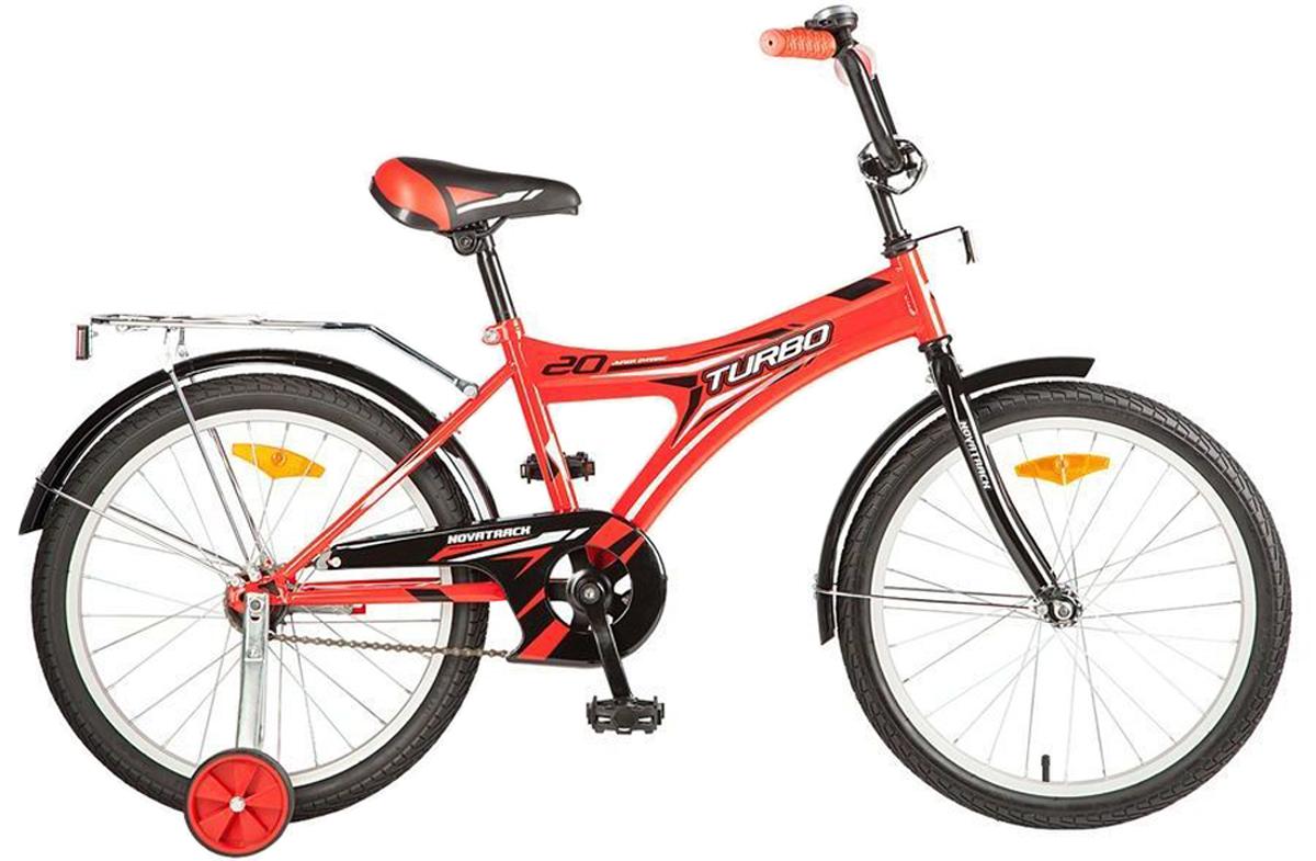 Велосипед детский Novatrack Turbo, цвет: красный, 20
