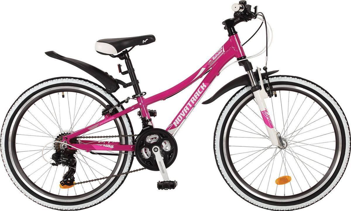 Велосипед детский Novatrack Katrina, цвет: фиолетовый, 24, рама 10 велосипед детский novatrack action цвет фиолетовый 20