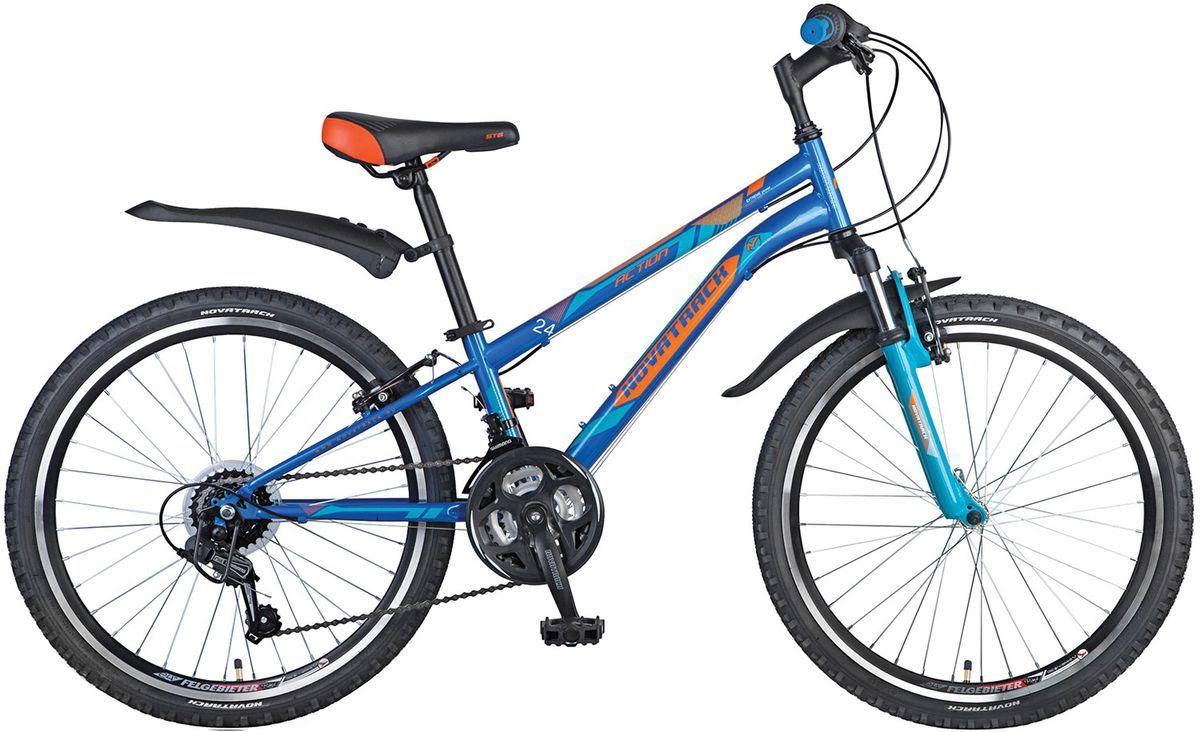 Велосипед детский Novatrack Action , цвет: синий, 24 , рама 12 , Велосипеды  - купить со скидкой