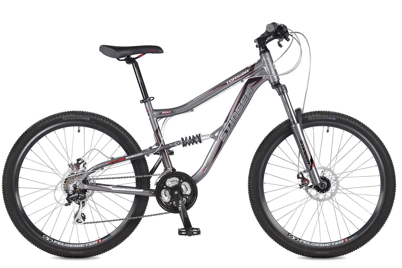 Велосипед горный Stinger Torsion, цвет: серый, 26, рама 15