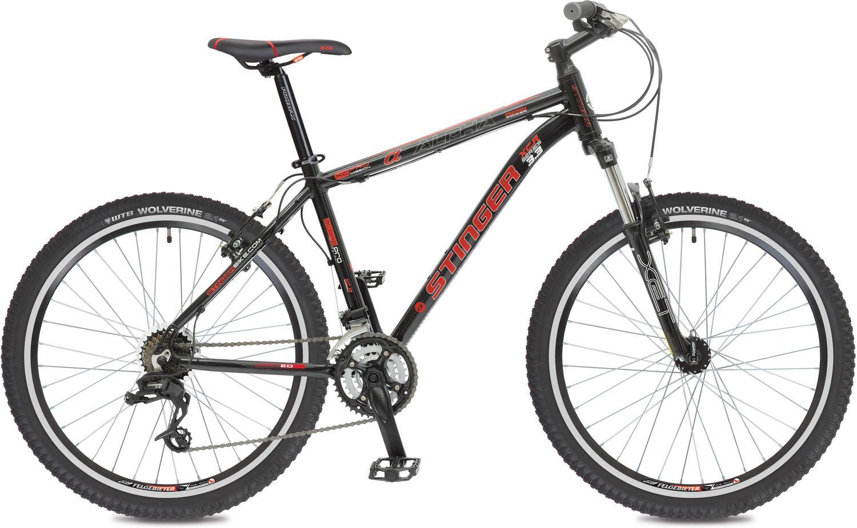 Велосипед горный Stinger Alpha 3.3, цвет: красный, 26, рама 16 горный велосипед kim seung 500 26
